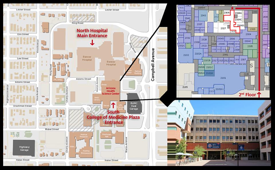 UAHS Tucson Map