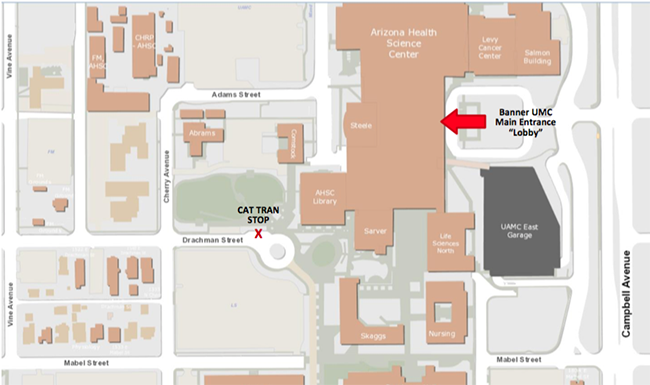 Umc Campus Map.Banner University Medical Center Directions Human Resources