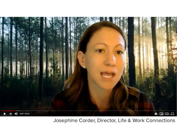 Josephine Corder speaking at the Feb. 25, 2021, supervisors meeting